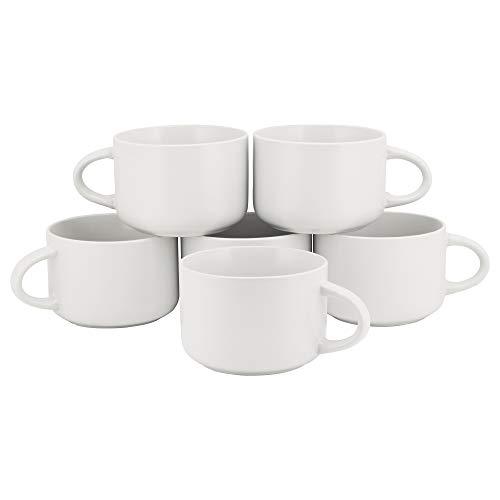 10 Strawberry Street WM-28-WHT-6 Wazee Matte Oversized Mugs, WHITE