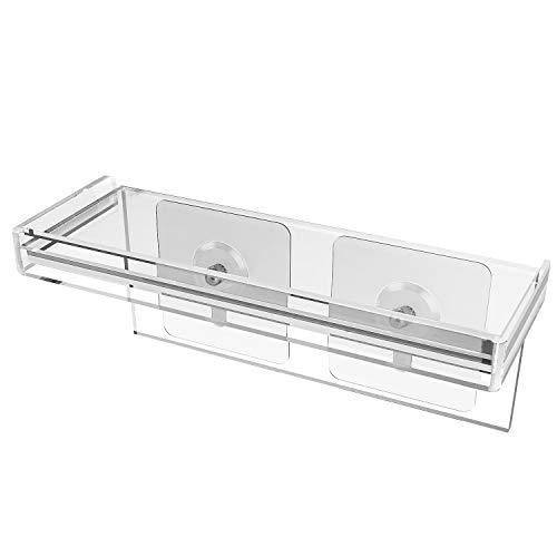 HOMENOTE Acrylic Floating Window Shelf 7 inch Small Plant Holder Small Shelf for Mini Succulent pots