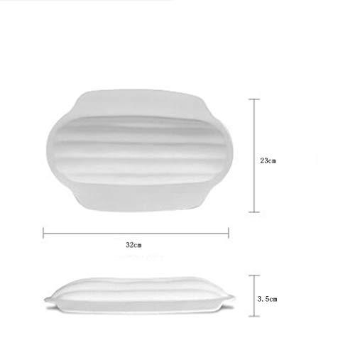 Bathtub Trays bath caddy bath tray bath board Bamboo bathtub frame bathroom bath telescopic long bathroom multi-function rack(bathtub pillow) ( Color : Natural+White , Size : 74.523+3223cm ) by ZhaoLiRuShop (Image #5)