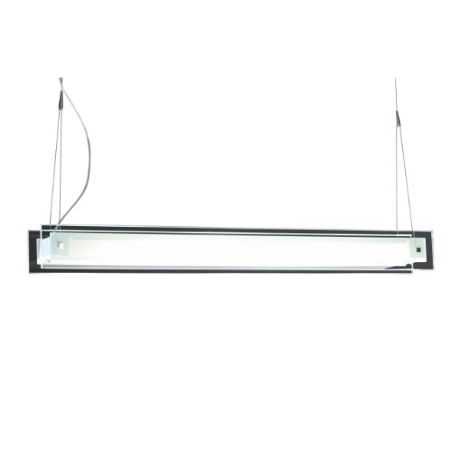 ET2 Lighting E22125-10 Contempra 1-Light Pendant Multi-Light, Brushed Aluminum with Clear/White Contempra Kitchen