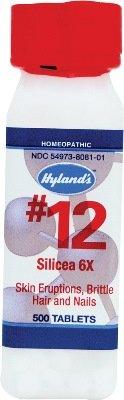 Silicea 6x (500Tablets) Tissue Salt (Cell Salt) Brand: Hylands (Standard Homeopathic)