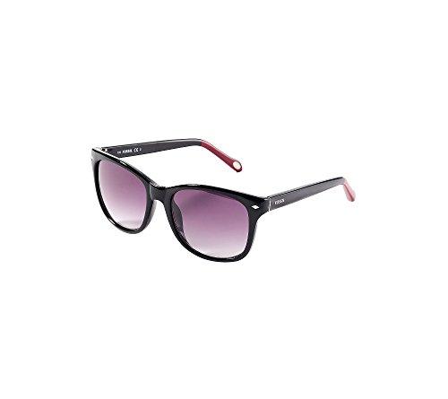 Fossil Men's Black Retro Square Sunglasses (Fossil Mens Clothes)