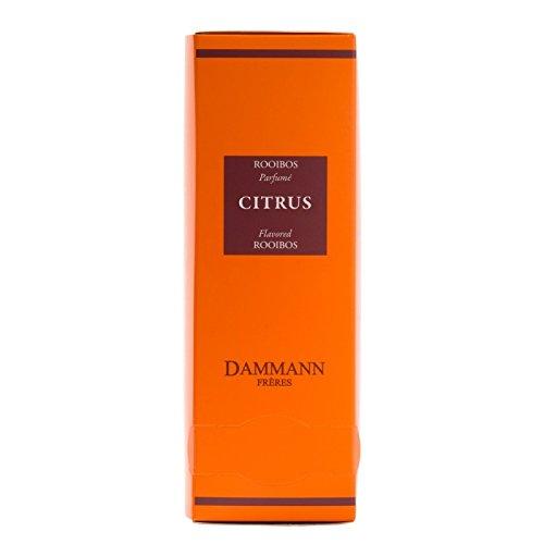 Dammann Frères - Rooibos Citrus - 2 x boxes of 24 enveloped Cristal sachets (48 count / tea bags) by Dammann Frères - Rooibos Citrus