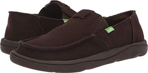 Flat Brown Sport Shoe (Sanuk Men's Vagabond Tripper Chill Loafer Flat, Brown, 9 M US)