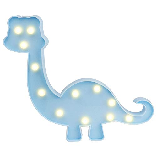 - Decorative Dinosaur Night Light Marquee Signs Dinosaur Toy LED Lamp - for Kids Table Dino Lamp Desk Nursery Walking Animal Party Children Room Boys Girl Bedroom Decor Birthday Gifts (Blue)