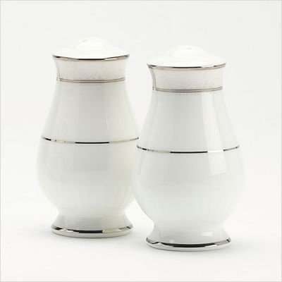 Noritake Motvale Platinum Salt & Pepper Shakers