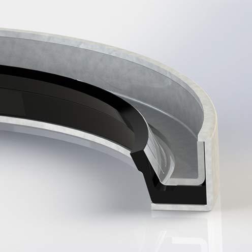 Klozure 21158-1720 Model 63 MILL-RIGHT N Carbon Steel Case Oil Seal - 2.4060 in Shaft, 4.0030 in OD, 0.3750 in Width, MILL-RIGHT N - Nitrile Lip Material