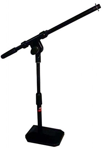 (Stagg MIS-1112BK Desktop Microphone Boom Stand with Base - Black)