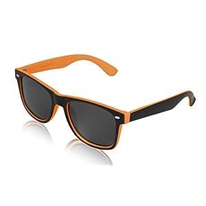 Orange Sunglasses for Women and Men 2 Tone Sunglasses