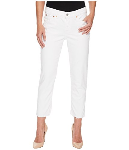 White Levi Jeans (Levi's Women's Boyfriend Unrolled Jeans, Little White Lies, 30 (US 10))