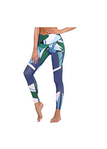 (SGMORE Women's Yoga Pants, Tummy Control Workout Running 4 Way Stretch Yoga Leggings Capris Power Flex Boot-Cut Running Pants Leggings High Waist Out Pocket Yoga Pants Non See-Through Gym Tights Blue)