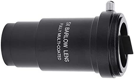 """Bewinner Barlow Lens 5X, Multi-Coated 1.25"""" 5X Barlow Lens M42 Thread for Telescopes Eyepiece M42 x 0.75mm Thread T-Adaptor, Can be Attached to DSLR or SLR Camera via a Separate Ring Adapter"""