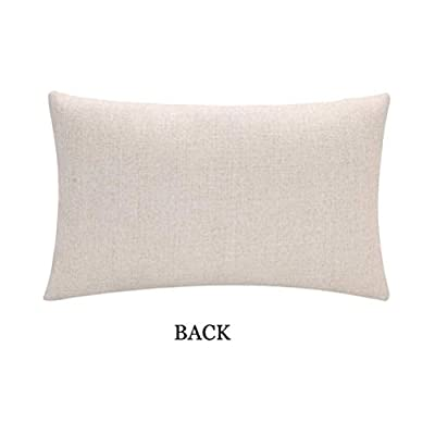 ULOVE LOVE YOURSELF 2Pack Pillow Cover Cotton Linen Home Decorative Throw Cushion Case