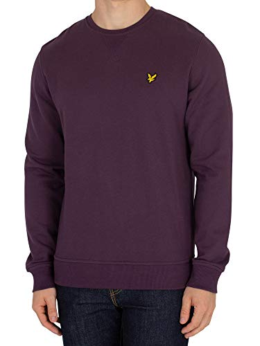 (Lyle & Scott Crew Neck Sweatshirt Deep Plum Large)
