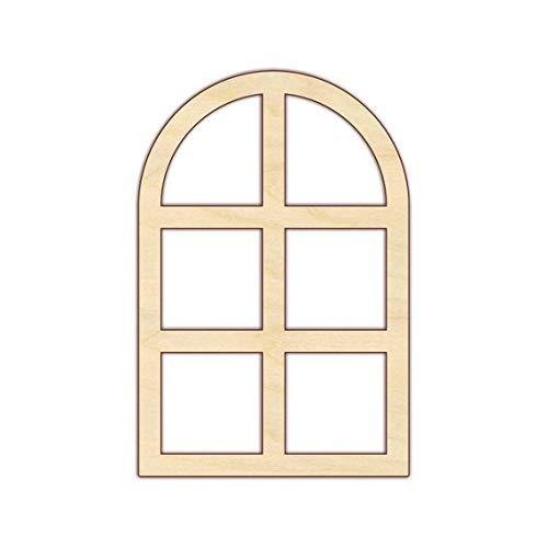 - MarthaFox Window Architectural Wall Decor Unfinished Wood