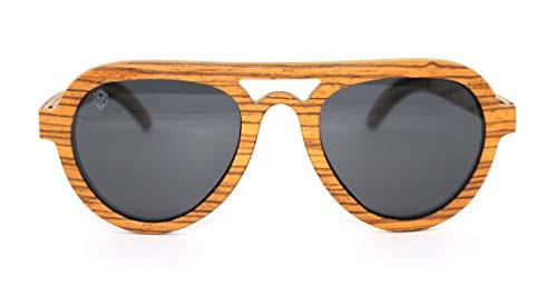 Óculos de Sol de Madeira Banion Brown, MafiawooD