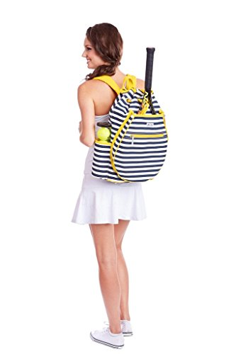 Ame & Lulu Kingsley Tennis Backpack (Black Shutters) by Ame & Lulu (Image #2)