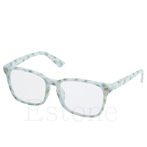 Amrka Retro Eyeglass for Men Women Unisex Full Frame Glasses Computer Spectacles Glasses (Porcelain - Design Frame Spectacles