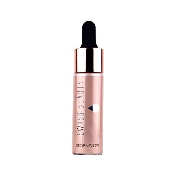 Swiss Beauty Drop &glow Liquid Highlighter, Face MakeUp, Light Pink, 18ml