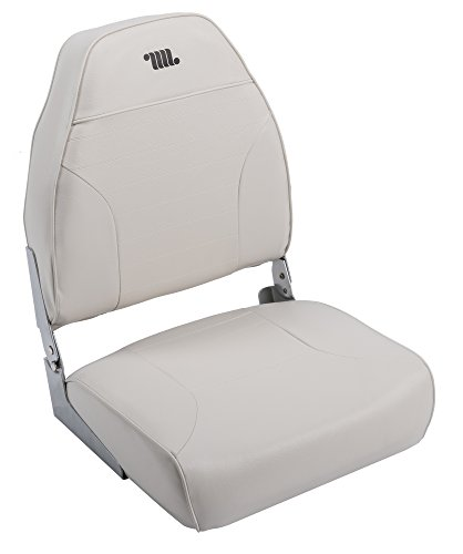 White Fishing Boat (Wise 8WD588PLS-710 Mid-Back Fishing Boat Seat with Logo, (White))