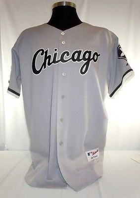 lowest price 901c8 91180 Chicago White Sox Authentic Majestic Road Jersey with 100 ...