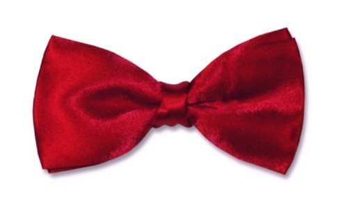 Classic Pre Tied Adjustible Satin Formal Tuxedo Red BowTie