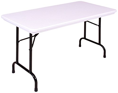 Correll R2448 23 R Series, Blow Molded Plastic Commercial Duty Folding Table, Rectangular, 24