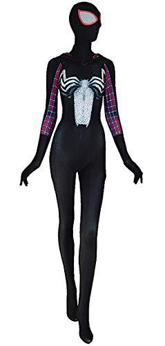 (Gwenom Costume Woman Venom Symbiote Gwen Spider Cosplay Suit (XX-Large) Black)