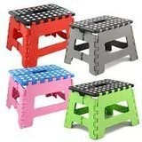 Folding Step Stool Heavy Duty for Kids and Adults Capacity 100kg Multicolour by Nuovva
