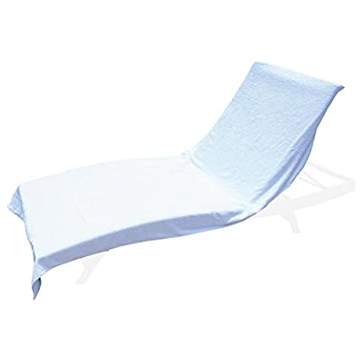 """Winter Park Towel Co. Chaise Lounge Pool Chair Cover Towel (40"""" x 90"""") - Fitted Elastic Pocket Won't Slide (White): Home & Kitchen"""