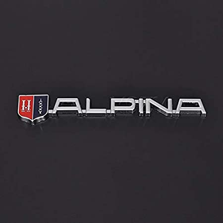 Fashion Car Stickers Emblem Refit Badge Metal Decal for BMW Alpina M M3 M5 M6 X1 X3 X5 X6 E46 E39 E60 E90 E36 Auto Styling Color Name: Silver