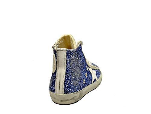Goose Top Sneakers G32ws591b26 Donna Golden Glitter Blu Hi wfBqdn1