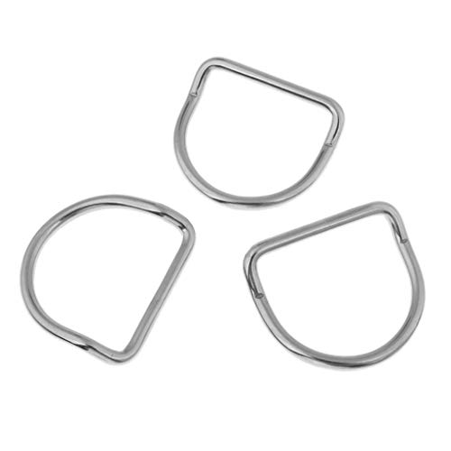 Pack of 3 Heavy Duty Diving Scuba Bent D Ring for Webbing Belt/Harness Attachment