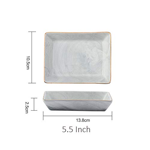 Ceramic Drainer - 1 PCs Creative Gold Marble Ceramic Plate Dish Dessert Food Plate Jewelry Ring Necklace Dish Bathroom Vanity Storage Tray Trinket Dish