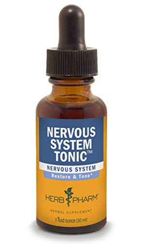 Herb Pharm Nervous System Tonic Liquid Herbal Formula to Strengthen and Calm the Nervous System - 1 Ounce -