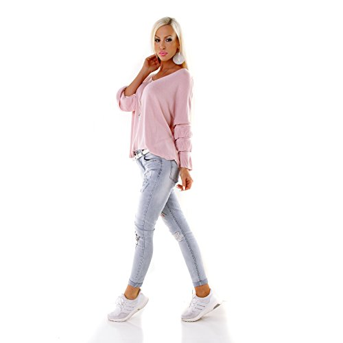 Pompom - Jerséi - para mujer Rosa talla única (Talla única)
