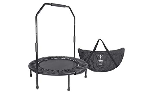 David Hall's Cellerciser Rebounder- The Best Mini Trampoline with Stability Bar