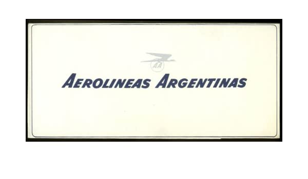 Amazon.com: Aerolineas Argentinas Airlines airline ticket wrapper wallet 1960s: Entertainment Collectibles
