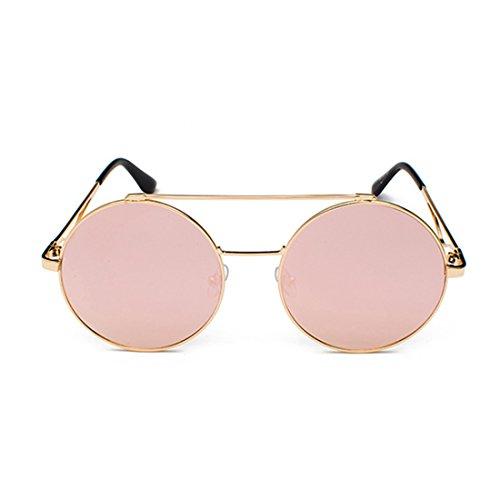 y redondas color Metal 60 lente Hombres mujeres plana Y Rosado mm Marco Inlefen a delgado Gafas 57qgXtxwx