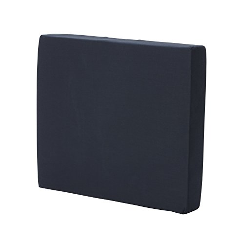 Duro-Med Foam Seat Cushion for Your Wheelchair Car or Chair with Cover Navy 3 Inch x 16 Inch x 18 Inch