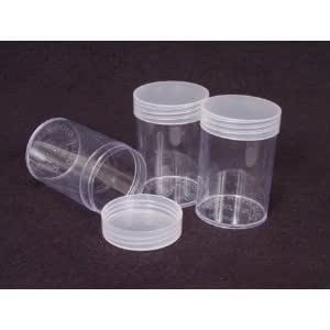 Amazon.com: Coin Storage Tubes, Round Clear Plastic w/ Screw on Tops for Quarter (Quantity of 10