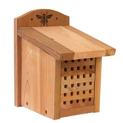 Woodlink 28552 Heavy Duty Cedar Mason Bee, Small Insect House, 9.5'' H Wood