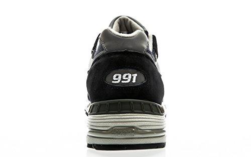 Ny Balance Sneakers 991 Limited Edition Mesh Og Læder Grå Mørkeblå N83C3pDXPx