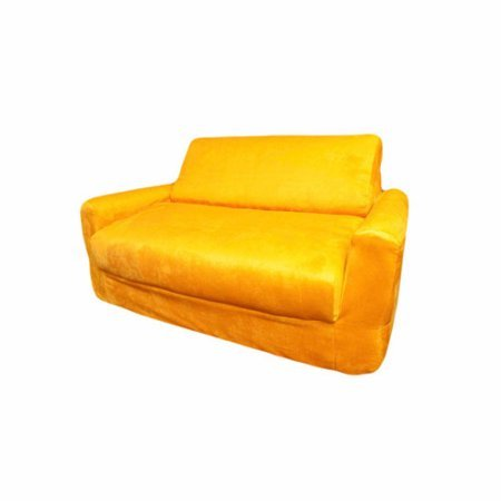 Sofa Sleeper, Multiple Colors, Kid's Furniture, Kid's Chair, Seating, Made from Polyester, Removable Slipcover, Children's Room, Futon,Children's Sleeper + Expert Guide (Canary Yellow Micro ()