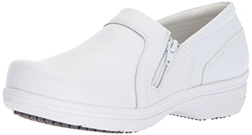 Easy Works Women's Bentley Health Care Professional Shoe, White, 8 W US