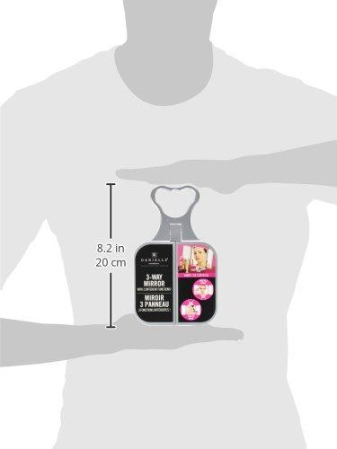 Amazon.com: Danielle Enterprises Silver 3 Way Beauty Mirror: Health U0026  Personal Care
