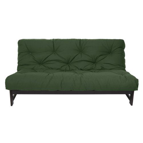 Mozaic  Full Size 8-inch Cotton Twill Gel Memory Foam Futon Mattress, Hunter Green