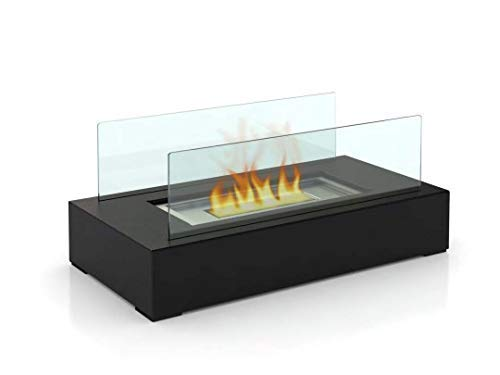 (Fire Desire's Cubic Fireplace - Best Seller, Perfect for Table Top, Tempered Glass, Both Indoor and Outdoor Use, Great for Decoration, Cozy Atmosphere, German Design, Can Put Anywhere, Table Top, Easy to Assemble, Portable, Reusable Fireplace)
