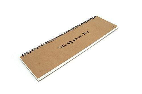 FUN DESIGN FAIR Weekly Planner Pad - Wirebound Undated Weekly Planner Pad, Weekly Daily Scheduler Keyboard Paper Pad (Kraft)