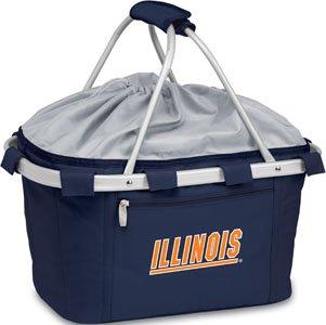 NCAA Illinois Illini Embroidered Metro Basket, One Size, Navy